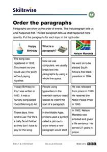 sequence and chronological order worksheet