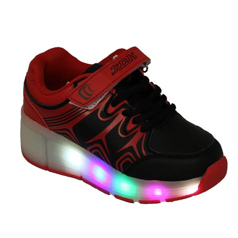 light shoes for boys boys girls kids retractable wheel roller skate shoes led