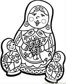coloring pages russian dolls countries gt russia free printable coloring page online