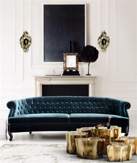 Velvet Living Room Furniture 8 Stunning Velvet Sofas For Your Living Room