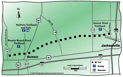 rails to trails florida map jacksonville baldwin rails to trails trail 11 19 11