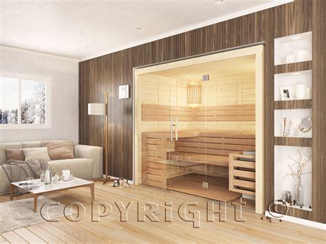 sauna mit glasfront bad wellness24 sauna mit glasfront 240 x 166 cm harvia