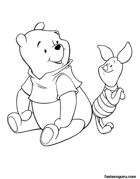 coloring pages disney characters winnie  pooh