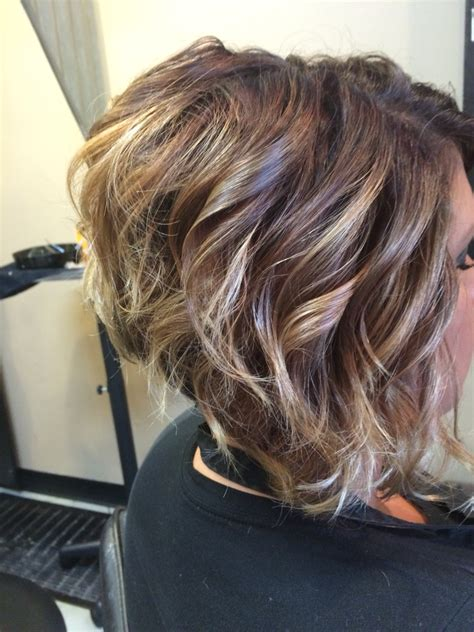 images for stacked curly bob ombre on short hair stacked bob haircut hair hair