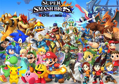 Smash Bros 3ds smash bros for nintendo 3ds and wii u 4k ultra hd wallpaper and background image