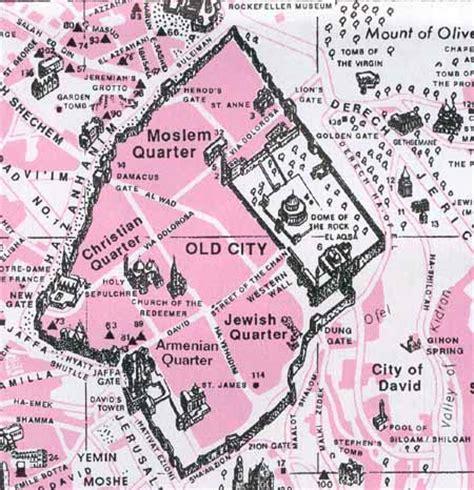 city jerusalem map jerusalem s city
