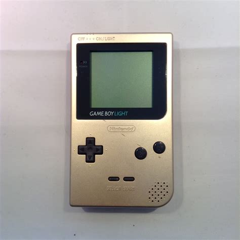 nintendo gameboy light console gold retroplayers