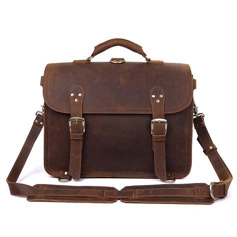 Leather Briefcase Handmade - s handmade vintage leather briefcase leather satchel