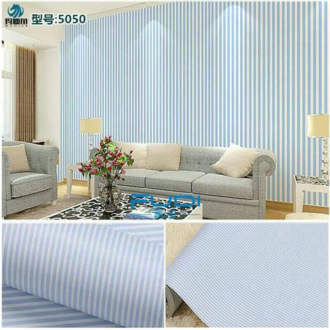 wallpaper garis biru jual wallpaper sticker 10m garis biru ike rz wall