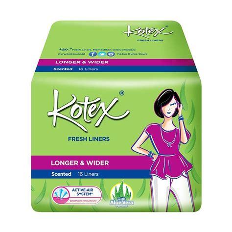 Kotex Fresh Liner Aloe Vera Liners 20 Pads jual kotex fresh liner longer wider aloe vera