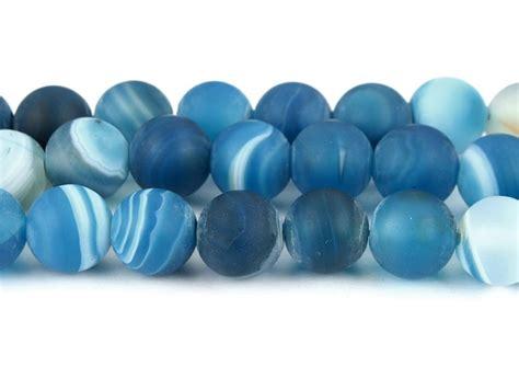 Technik Nägel Lackieren by Nat 252 Rliche Streifen Achat Perlen Kugel Matte Blau 6mm