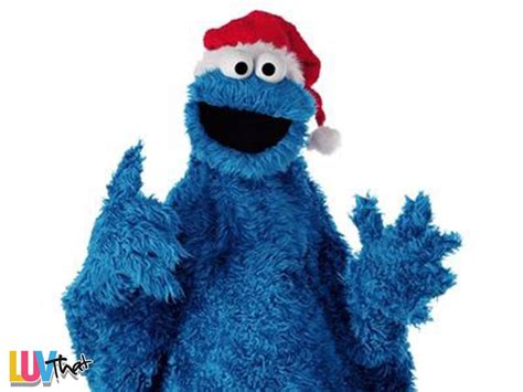 Delightful Big Christmas Wreath #3: Cookie-monster-with-santa-hat.jpg