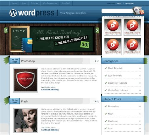 theme wordpress unik download gratis 8 theme wordpress unik idfreelance net