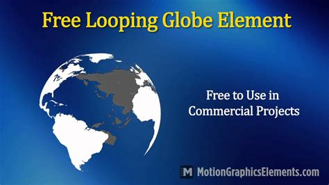 Free Looping Animated Globe Video Element Youtube Spinning Globe After Effects Template