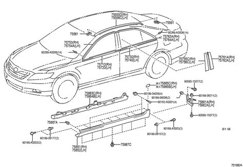 Toyota Camry Parts Diagram Toyota Camry Parts Auto Parts Diagrams