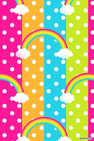 Polkadot Undangan polka dot backgrounds rainbow white polkadots iphone