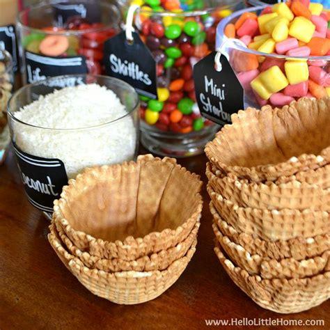 sundae bar topping ideas diy ice cream sundae bar