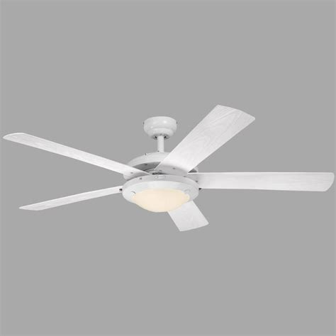westinghouse comet 52 in white indoor outdoor ceiling fan