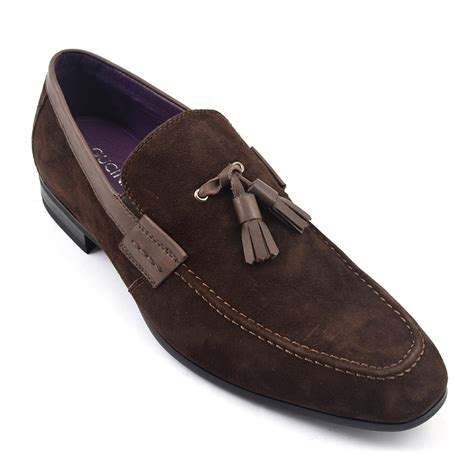 tassel loafers brown buy brown suede tassel loafer mens shoes gucinari