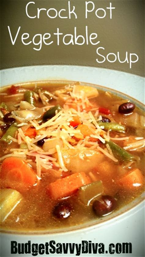 crock pot vegetable soup recipe budget savvy diva
