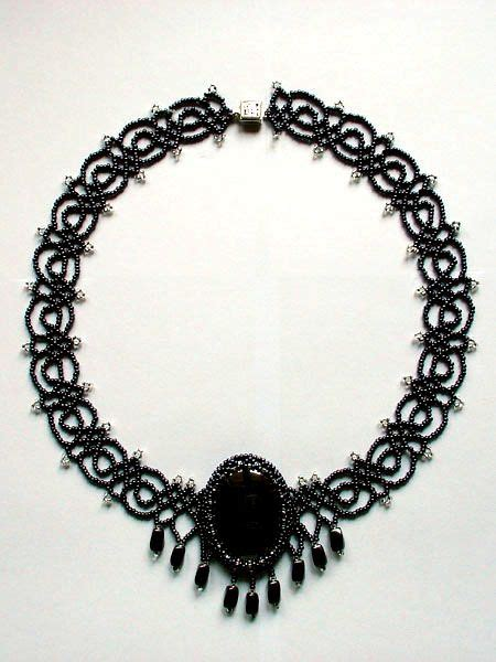 black necklace pattern 17 best images about gothic jewelry designs on pinterest