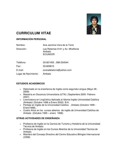 Modelo Curriculum Vitae Por Competencias Curriculum 2012