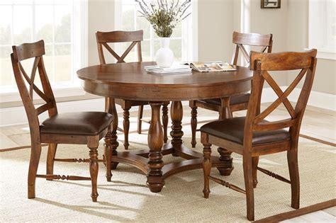 wyndham rustic   birch dining table  medium cherry