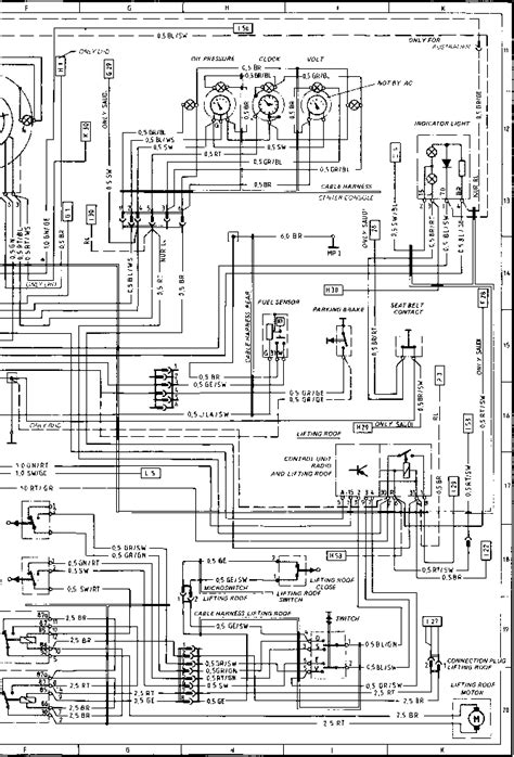 service manuals schematics 1986 porsche 911 instrument cluster wiring diagram type 924 s model 86 sheet porsche 944 electrics