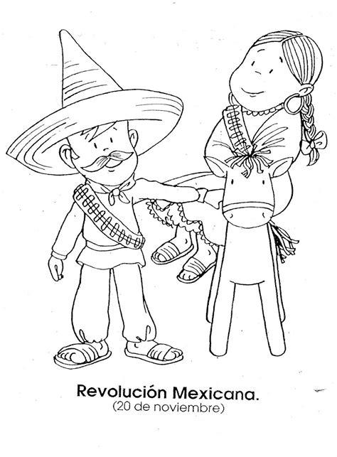 imagenes sobre la revolucion mexicana para niños la revoluci 243 n mexicana dibujos para colorear ciclo escolar