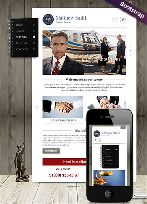 bootstrap themes lawyer private lawyer bootstrap template id 300111731 from