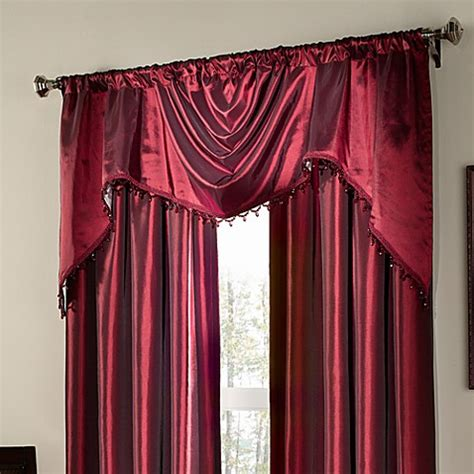 argentina curtains bed bath and beyond buy argentina shaped valance with beaded trim in crimson