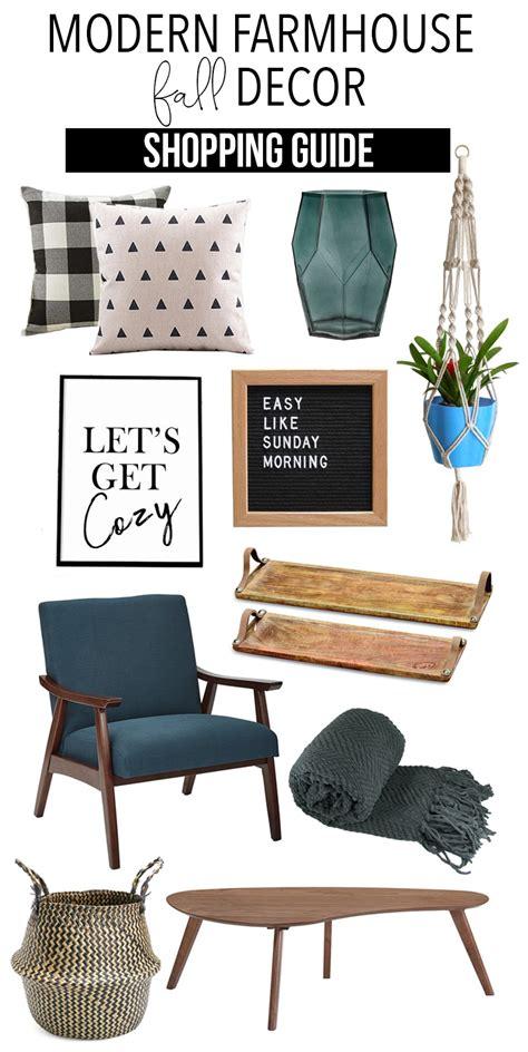 home decor guide modern farmhouse fall home decor shopping guide the