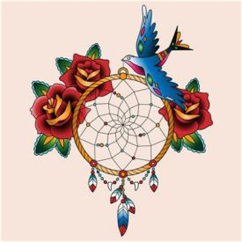 design dream birds dreamcatcher tattoos