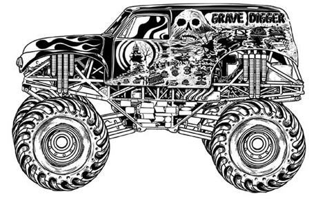 grave digger monster truck clip art 43