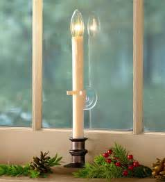 candle lights for windows suction cup window candle lighting plow hearth