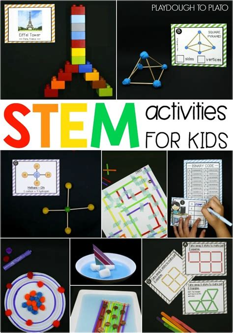 trying pattern rule with stem 40 stem activities for kids playdough to plato