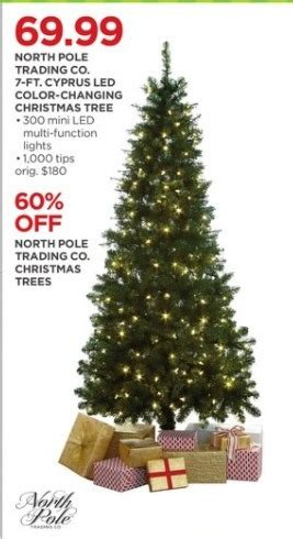 9 foot christmas tree with power pole jcpenney black friday pole trading co 7 ft cyprus led color changing tree for
