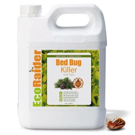 ecoraider  gal natural bed bug killer ebrmghd  home depot
