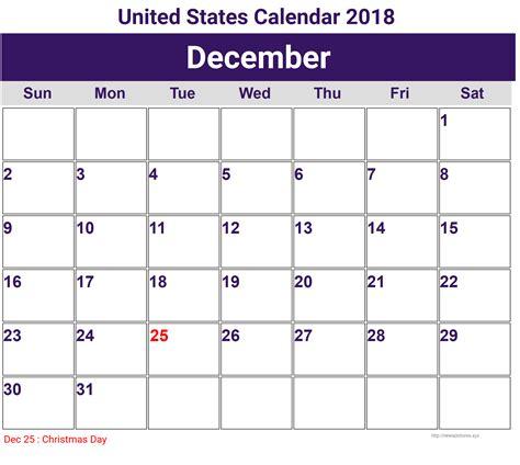 2018 Calendar United States Annual United States Calendar 2018 Printcalendar Xyz