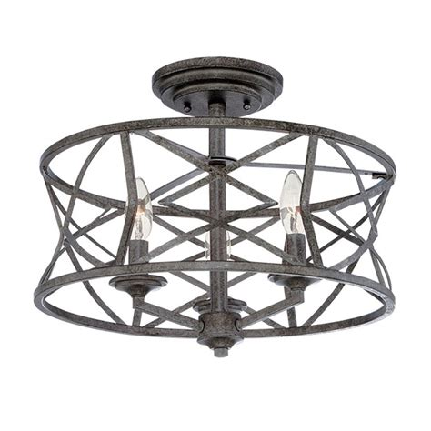 Dimmable Chandelier Millennium Lighting Lakewood Antique Silver 9 Inch Three