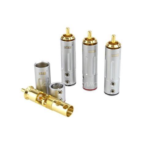 Rca Gold Set 436 eizz ez 204 gold plated cinch rca 216 9mm set x4 audiophonics