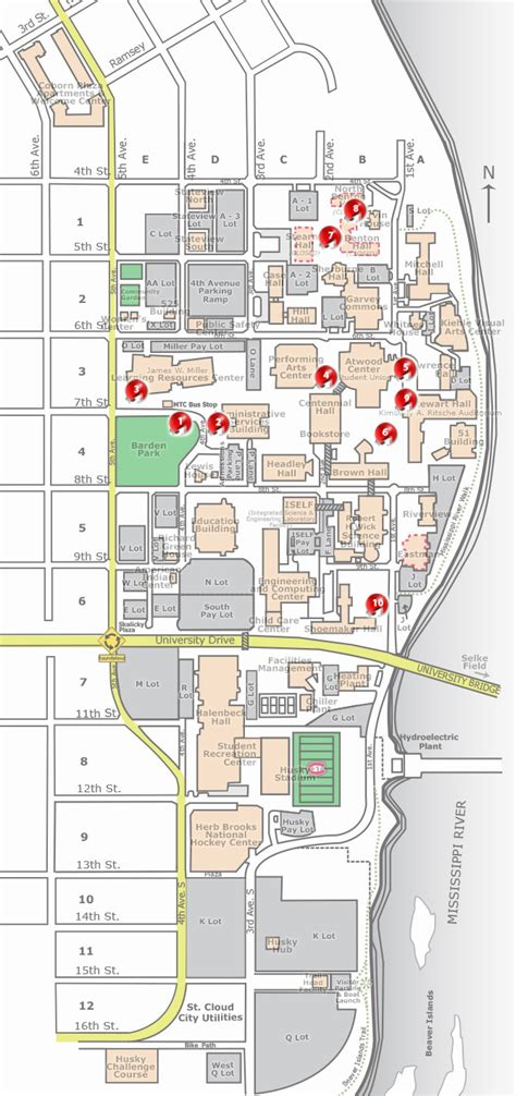 St Cloud Mba Program by Cus Map Tours St Cloud State