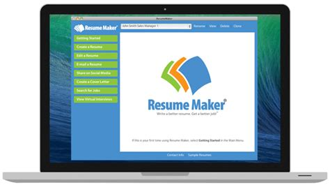 resume maker mac