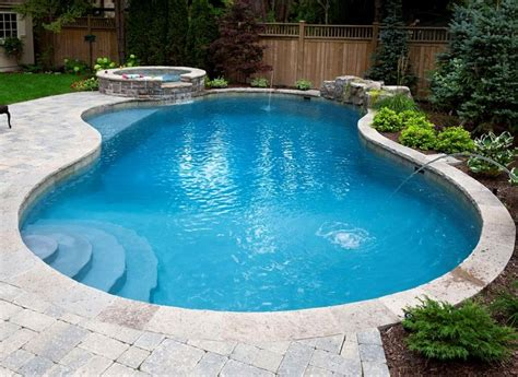 kidney shaped pools pics for gt kidney shaped pool with spa
