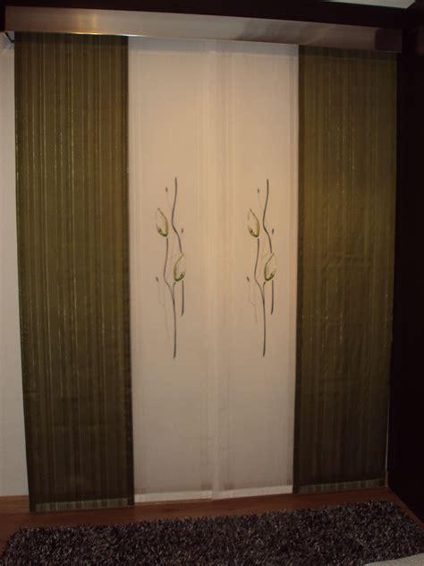 cortinas estilo japones panel japones de cuatro vias con galeria de aluminio