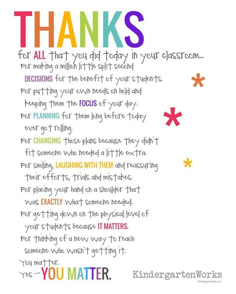 Thank You Letter To Kindy 25 Unique Poems Ideas On Appreciation Poems Simple Gifts
