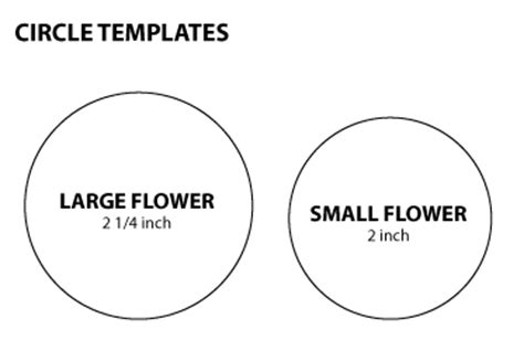 Pickled Tink 2 Fabric Flower With Stems Tutorials Circle Cut Out Template