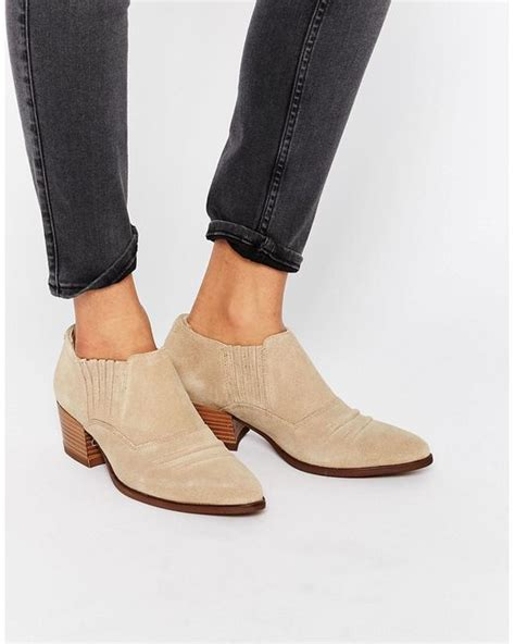 vagabond mandy suede low cut away western boots in