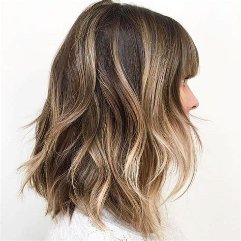 brunette thin hairstyles 25 best ideas about lob bangs on pinterest long bob