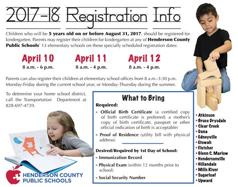 kindergarten registration elementary education - Registered School